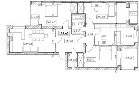 Продам 4-комнатную квартиру, 125м2, ЖК Прованс, фрунзенский р-н - Фото 5