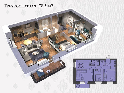 Объявление №50873836: Квартира 3 комн. Красноярск, ул. Львовская, 33а,