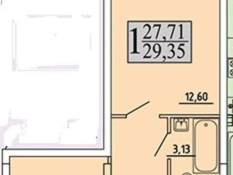 1 203 350 Руб., Продажа однокомнатной квартиры в новостройке на улице Хользунова, 99 в ., Купить квартиру в Воронеже по недорогой цене, ID объекта - 320573368 - Фото 1
