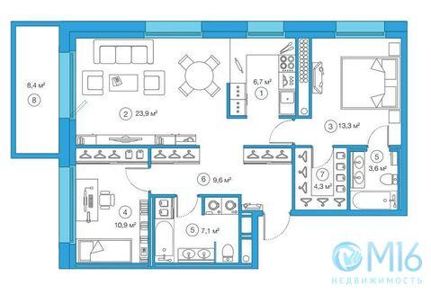 Продажа 2-комнатной квартиры, 79.69 м2 - Фото 2