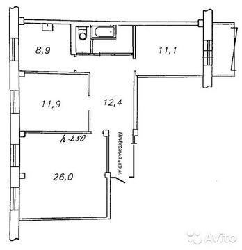 3-к квартира, 76.8 м, 4/9 эт. - Фото 2