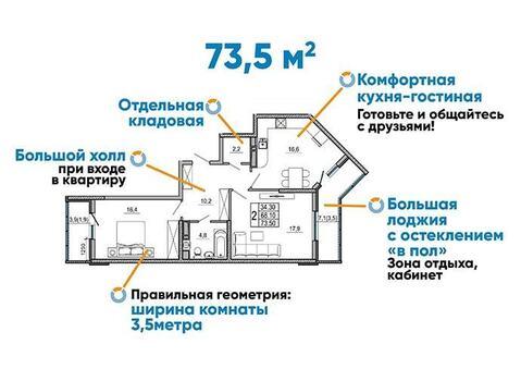 Предлагается к покупке отличная 2-комнатная квартира - Фото 3