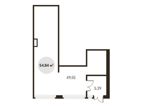 Продажа торгового помещения 54.84 кв. м - Фото 1