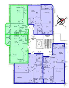 Продажа двухкомнатная квартира 59.80м2 в ЖК Кольцовский дворик дом 1. . - Фото 2