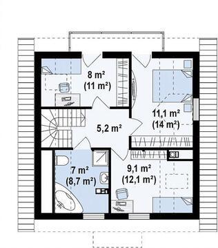 Дом 107 м2 на участке 4 сот. пос. Западный-2 - Фото 3