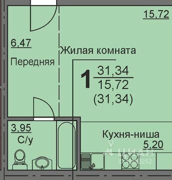 Студия Курганская область, Курган 16-й мкр, 11 (31.99 м) - Фото 1