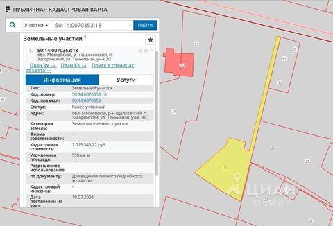 Продажа участка, Загорянский, Щелковский район, Ул. Теннисная - Фото 1