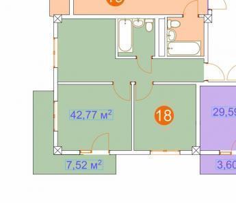 Адлер, ул. Православная, 51,3кв.м. 2-й этаж, лифт., Купить квартиру в Сочи по недорогой цене, ID объекта - 321567308 - Фото 1