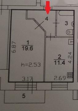 1-комнатная квартира на ул.Кавказкая(45м2) - Фото 3