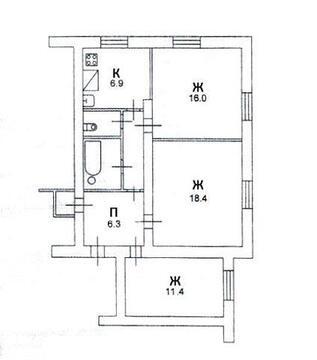 Продажа квартиры, Тёсовский, Новгородский район, Ул. Театральная - Фото 1