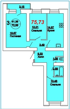 Квартира, ул. Техническая, д.7 к.А - Фото 2