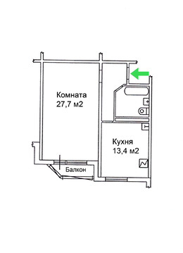 Просторная 1-комнатная квартира с отличным ремонтом - Фото 5