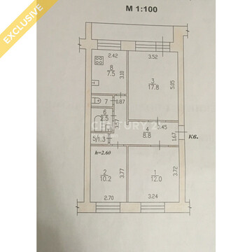 3-х комнатная, Краснореченское, Почтовая 9 - Фото 5