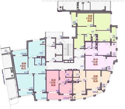 2-к. кв, центр города, элитный район, новый дом, инд.отопление - Фото 2