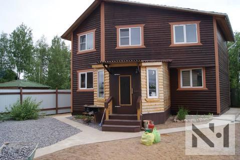 Двухэтажный дом 160 м2 из бруса на участке 6.7 соток - Фото 1