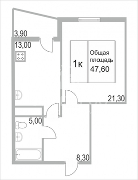 Продам 1-комн. квартиру, 3-й Заречный микрорайон, Заречный проезд, 39к - Фото 4