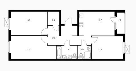 Объявление №50529947: Квартира 3 комн. Обнинск, ул. Курчатова, к2,