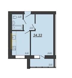 Продается 1-к квартира, 34,33 м2, ул. Глазкова,22 - Фото 2