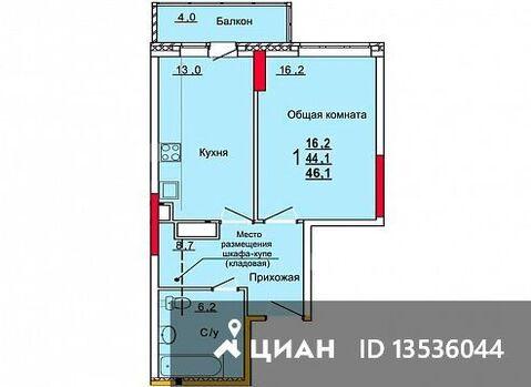 Продаю1комнатнуюквартиру, Тула, улица Кауля, 12, Купить квартиру в Туле по недорогой цене, ID объекта - 322797485 - Фото 1