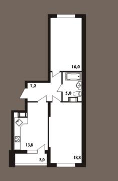 2-к квартира, 63.8 м2, 4/25 эт, пл. Ильинская, д. 5, стр. 4 - Фото 4