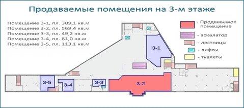 Помещение 569 кв.м в тоц в центре Красногорска, 6 км от МКАД - Фото 5