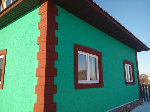 Новый блочный дом 110 м2 с Участком 30 сотокижс и гость.домиком в селе - Фото 4