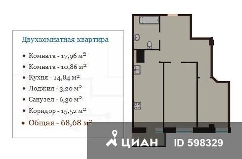 Продаю2комнатнуюквартиру, Тверь, улица Макарова, 4к1, Купить квартиру в Твери по недорогой цене, ID объекта - 320890694 - Фото 1