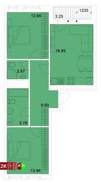 4 890 000 Руб., Продажа двухкомнатная квартира 65.80м2 в ЖК Квартал Новаторов секция д, Купить квартиру в Екатеринбурге по недорогой цене, ID объекта - 315127666 - Фото 1