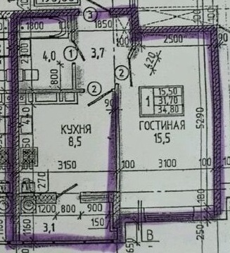 Ставрополь. ЖК Новороссийский. 1-комн. 35 кв.м. 2-й эт - Фото 1