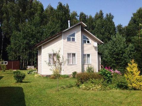 Дом на берегу реки Руза, прилесной участок 18 соток, д. Малоиванцево - Фото 1