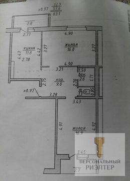 Двухкомнатная квартира ул.Правды 66-2
