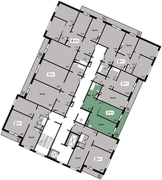 "Продам 1-комн. квартиру 46,3 кв.м. в ЖК""Курчатова""дом 6, стр.2 2090т.р - Фото 1"