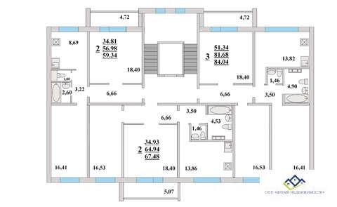 Продам 3-комн квартиру Прокатная д17 2эт, 84кв.мцена3097 т.р - Фото 2