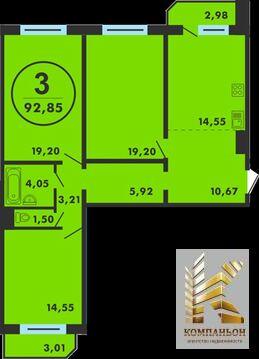 3 990 000 Руб., Продажа квартиры, Тюмень, Ул. Федюнинского, Купить квартиру в Тюмени по недорогой цене, ID объекта - 330997192 - Фото 1