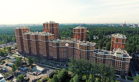 Однокомнатная квартира в новом доме в парке Сосновка, Купить квартиру в Санкт-Петербурге по недорогой цене, ID объекта - 321891422 - Фото 1
