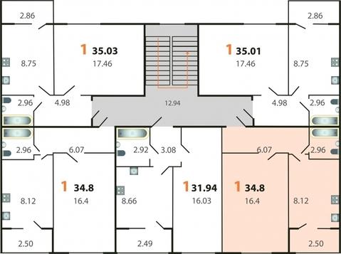 1-комнатная квартира в мкр.Пиганово - Фото 4