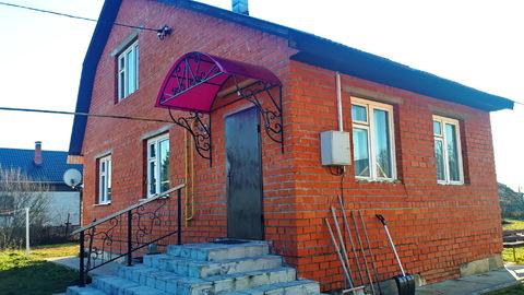 Свежий Дом 130кв.м. со всеми коммуникациями на 12 сотках в п.Заокском - Фото 1