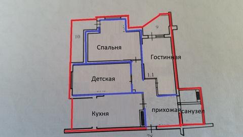 Купить трехкомнатную квартиру в монолитном доме с ремонтом. - Фото 2
