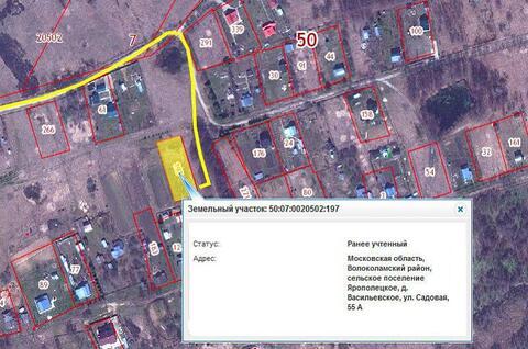 15 соток в деревне Васильевское Волоколамского р-на. 125 км. от МКАД. - Фото 2