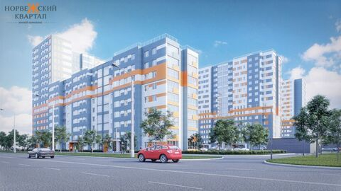 Двухкомнатная квартира в новом ЖК Норвежский квартал! - Фото 1