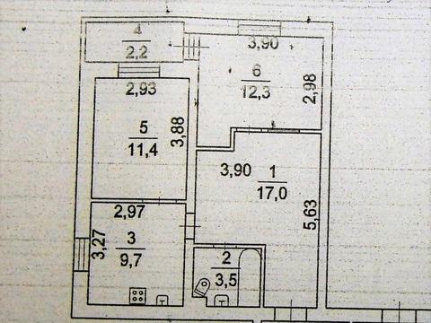 3 к. кв, м. Бунинская Аллея, пос. Воскресенское, д. 15 - Фото 1