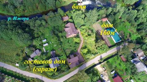 Гатчинский район, п. Лукаши, 19 соток ИЖС + дом 160м+баня+гостевой дом - Фото 1