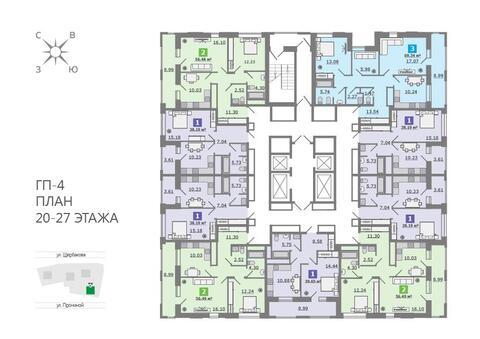 Продажа трехкомнатная квартира 69.33м2 в ЖК Каменный ручей гп-4 - Фото 2