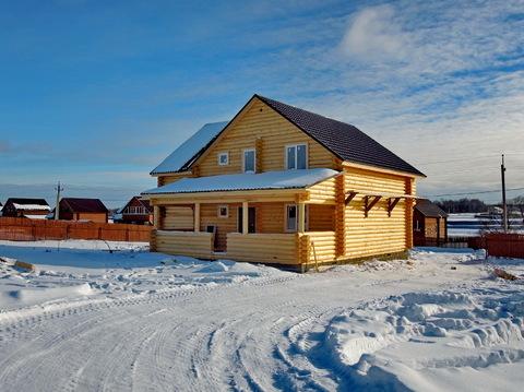 Продается новый дом 200 кв.м. из оцилиндрованного бревна в деревне! - Фото 2