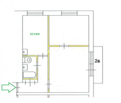 Квартира 2х ком. продаётся у метро Университет - Фото 1