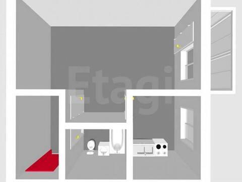 Продажа однокомнатной квартиры на улице Имая Насыри, 9 в Стерлитамаке, Купить квартиру в Стерлитамаке по недорогой цене, ID объекта - 320177861 - Фото 1