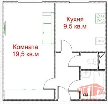 1 ком. квартира Щелково, Пролетарский пр-т, д. 2 - 36 кв.м - Фото 1