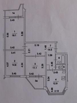 Продажа 3-х комнатной квартиры в П-44т, м.Выхино - Фото 4