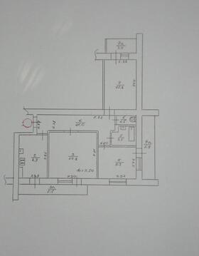 3-х комнатная, улучшенная, 71 кв.м - Фото 5