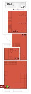 Продажа однокомнатная квартира 36.90м2 в ЖК Квартал Новаторов секция г - Фото 1